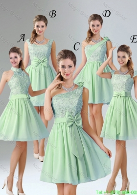Romantic Short Dama Dresses with Hand Made Flower for Wedding Party