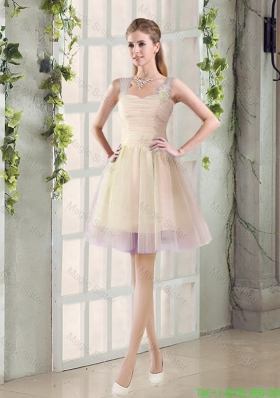 2016 Fall New A Line Straps Bridesmaid Dresses