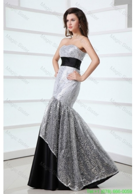 2016 Sexy Mermaid Sweetheart Sequins Floor-length Grey Prom Dress