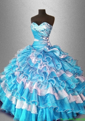 Ball Gown Popular Quinceanera Dresses with Beading and Ruffles