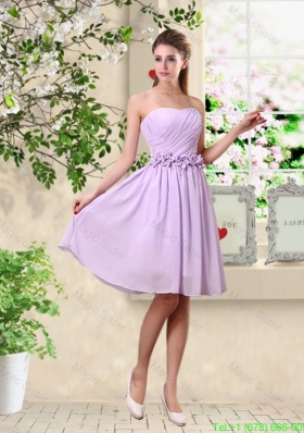 Classical A Line Appliques Bridesmaid Dresses in Lavender