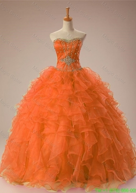 Inexpensive Sweetheart Beaded Quinceanera Dresses in Organza
