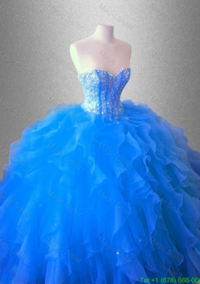 Ruffles and Beaed Classical Quinceanera Dresses with Sweetheart