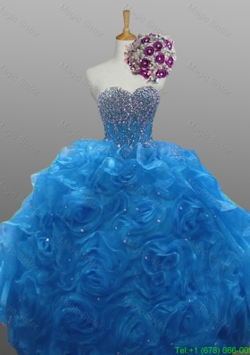 Wonderful Beaded Quinceanera Gowns in Organza for 2015 Fall
