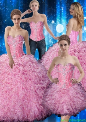 Sturning Sweetheart Beaded and Ruffles Quinceanera Dresses for 2015