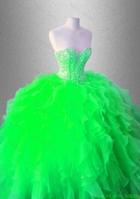 Beaed Latest Quinceanera Gowns with Ruffles for 2016