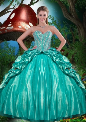 Artistic Beaded and Ruffled Layers Quinceanera Dresses in Taffeta for 2015
