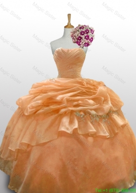 Romantic Quinceanera Dresses with Paillette and Ruffled Layers