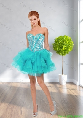 2016 Spring Latest Ball Gown Sweetheart Beaded Prom Dresses in Multi Color