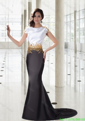 Mermaid Bateau Exclusive Mother of the Bride Dress with Gold Beading