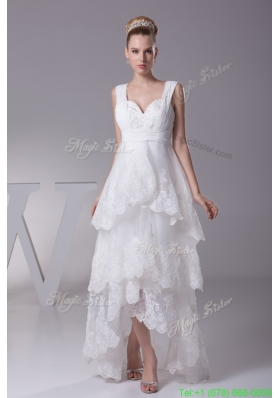 Aline Sweetheart Nackline Ruffled Layers Embroidery Wedding Dress