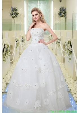 Summer Hot Sale Ball Gown Strapless Wedding Dresses with Beading