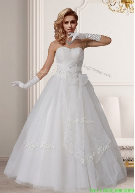 Sweet Princess Sweetheart Beading Wedding Dresses With Bows