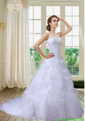 New Arrival Exquisite A Line Appliques Wedding Dresses with Sweetheart