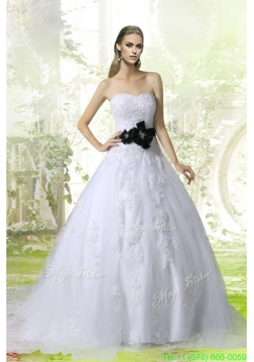 2016 Winter Princess Sweetheart Court Train Wedding Dresses with Appliques