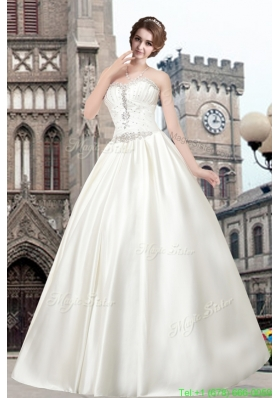 Beautiful Sweetheart Princess Floor Length Wedding Dress for 2016