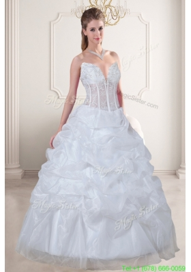 Fall Wonderful Ball Gown Sweetheart Embroidery Wedding Dress