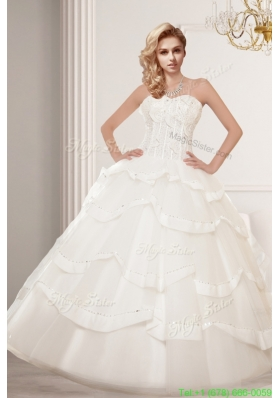 Summer Classic A Line Beading Wedding Dresses with Sweetheart