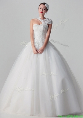 New Style 2016 Lace Long White Wedding Dresses in Tulle
