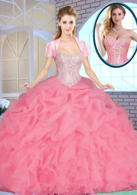 2016 Exclusive Sweetheart Quinceanera Dresses Beading and Ruffles
