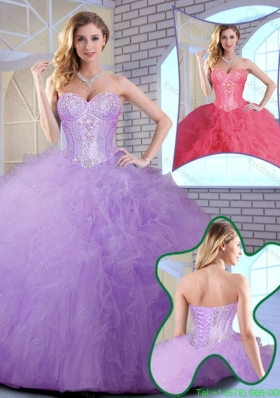 2016 Wonderful Floor Length Sweet 16 Gowns with Ruffles