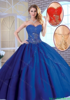 2016 Classic Exclusive Royal Blue Quinceanera Dresses with Appliques