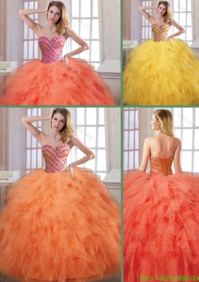 Beautiful New Arrivals Fall Sweetheart Quinceanera Dresses with Floor Length