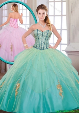 Beautiful Quinceanera Dresses with Beading and Appliques