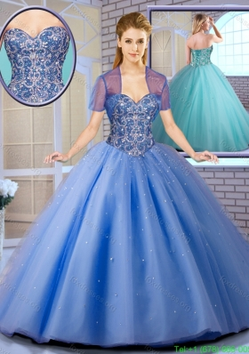 Perfect Beading Ball Gown Sweet 16 Dresses with Lace Up