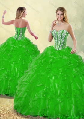 Detachable Fashionable 2016 Beading Quinceanera Dresses with Sweetheart