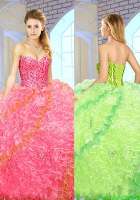 2016 Exquisite Beading Sweetheart Quinceanera Gowns with Floor Length