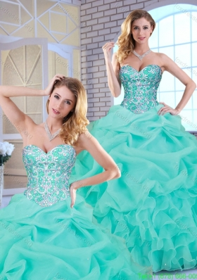 Cheap Beading and Ruffles Sweet 16 Dresses with Sweetheart