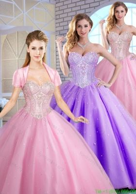 Cheap Sweetheart Quinceanera Dresses Beading and Sequins