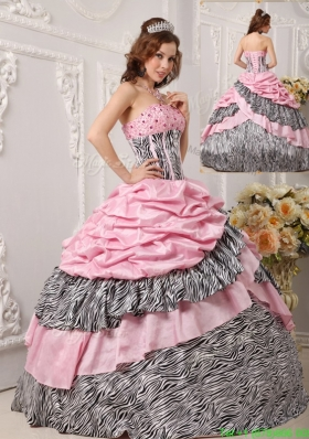2016 Perfect Ball Gown Strapless Quinceanera Gowns in Multi Color