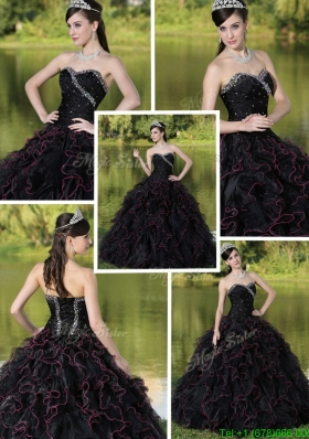 2016 New Style Beading Sweetheart Quinceanera Dresses with Ruffles Layered