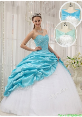 2016 Lovely Ball Gown Sweetheart Quinceanera Dresses in Aqua Blue