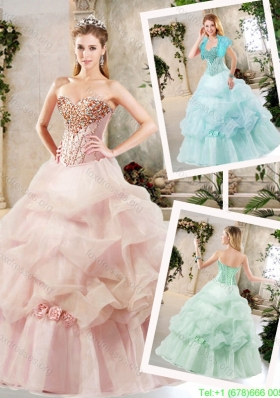 Cheap A Line Sweet 16 Dresses with Beading and Pick Ups