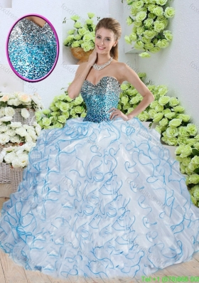 Cheap Sweetheart Quinceanera Dresses with Sequins and Ruffles