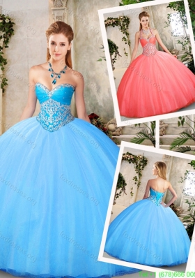 Pretty Ball Gown Quinceanera Dresses with Beading