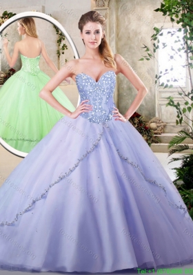 2016 Beautiful Lavender Quinceanera Dresses with Appliques