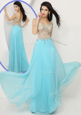 2016 Wonderful Empire Straps Prom Dresses with Beading