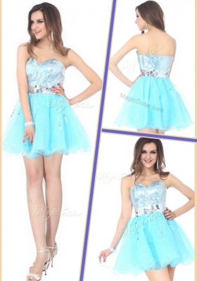 Beautiful Short Sweetheart Sequins Prom Dresses for Cocktail  for 2016