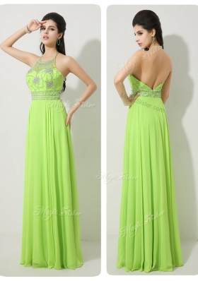 Classical Halter Top Beading Prom Dresses for 2016