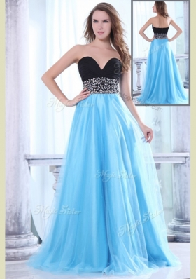 Romantic Sweetheart Beading Brush Train Prom Dress for Graduation