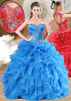 New Arrivals Ball Gown Sweet 16 Gowns with Beading and Ruffles for 2016