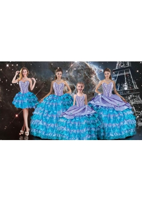 Modest Ruffled Layers Quinceanera Dresses and Cheap Multi Color Mini Quinceanera Dresses and Latest Beading Dama Dresses