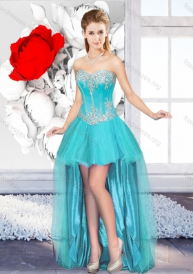 A Line Sweetheart Beautiful 2016 Designer Prom Dresses with High Low
