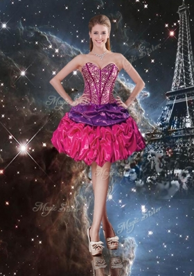 2016 Gorgeous Sweetheart Short New Style Prom Dresses with Pick Ups