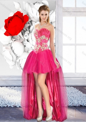 2016 High Low Beaded Modest New Style Prom Dresses with A Line