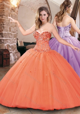 Hot Sale Big Puffy Tulle Beaded Bodice Sweet 16 Dress